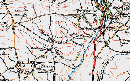 Old map of Leweston in 1922