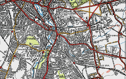 Old map of Lewisham in 1920