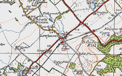 Old map of Aston Rowant National Nature Reserve in 1919