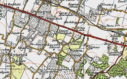 Old map of Lewson Street in 1921