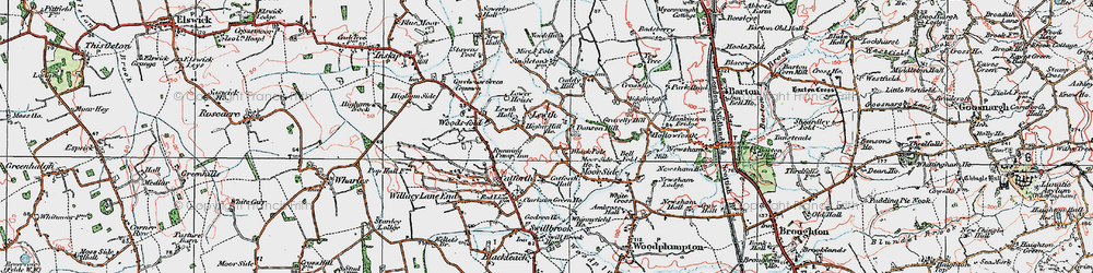 Old map of Lewth in 1924