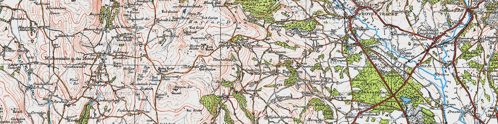 Old map of Lewthorn Cross in 1919
