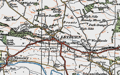Old map of Leyburn in 1925