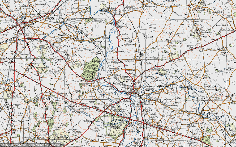 Old Map of Leyfields, 1921 in 1921
