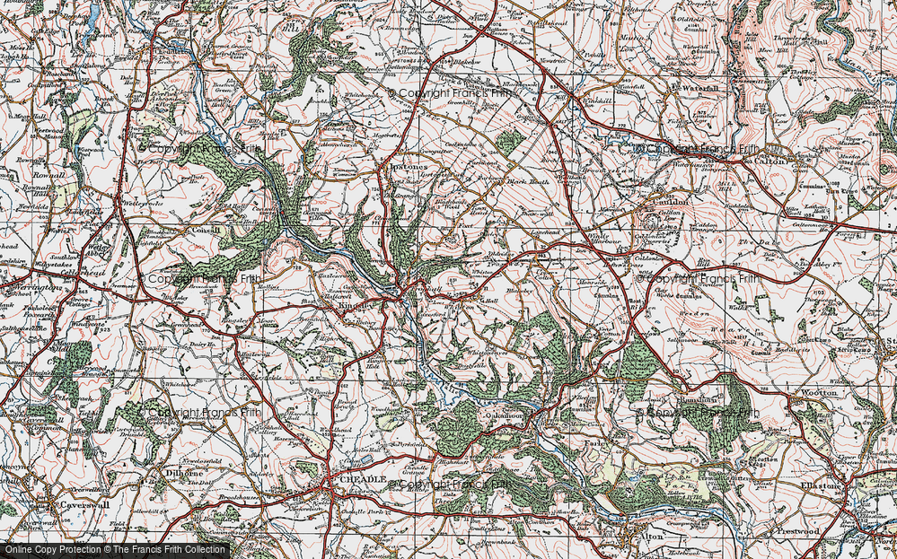 Old Map of Leys, 1921 in 1921