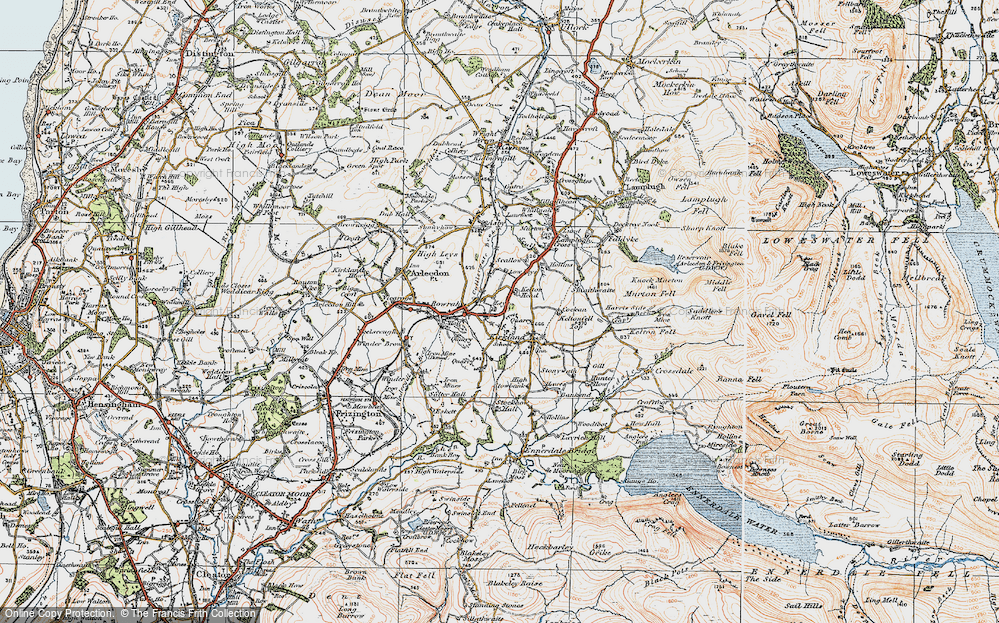 Old Map of Leys, 1925 in 1925