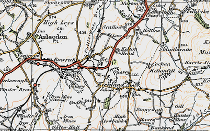 Old map of Leys in 1925