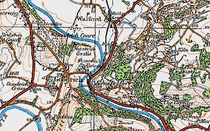 Old map of Leys Hill in 1919