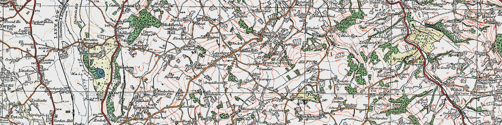 Old map of Weston Fm in 1920