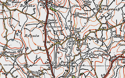 Old map of Lezerea in 1919