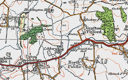 Old map of Libbery in 1919