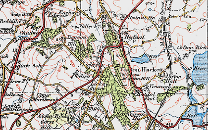 Old map of Lickey Hills in 1921