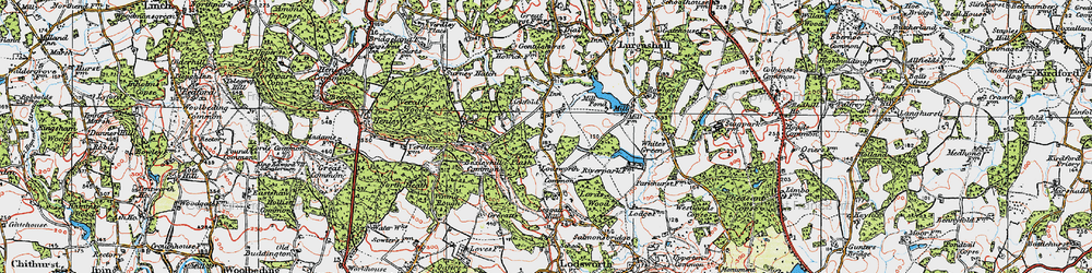 Old map of Lickfold in 1920