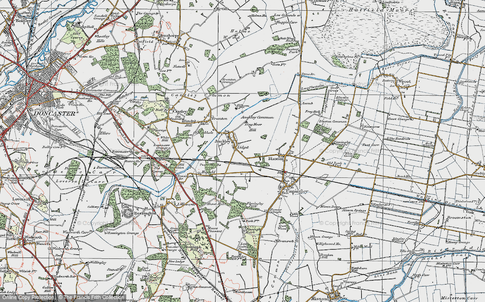 Old Map of Lidget, 1923 in 1923
