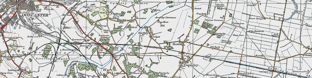 Old map of Lidget in 1923