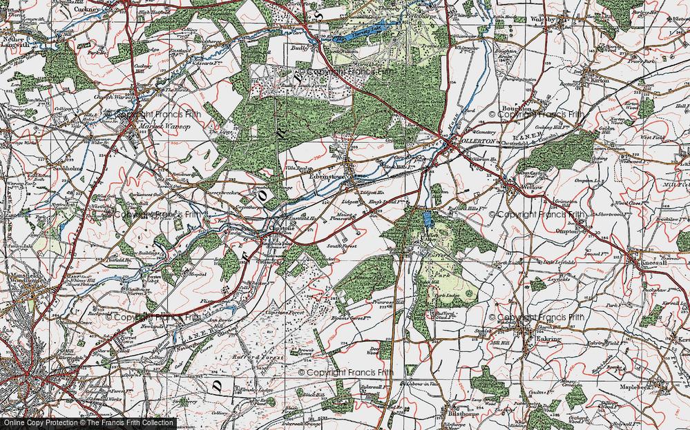 Old Map of Lidgett, 1923 in 1923