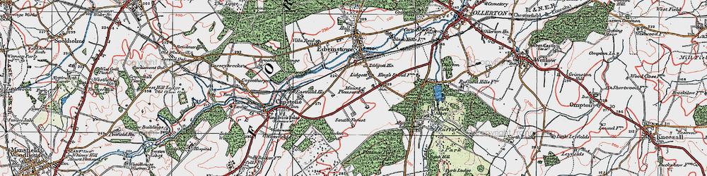 Old map of Amen Corner in 1923
