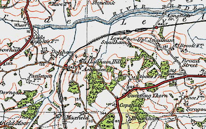Old map of Ashenden in 1921