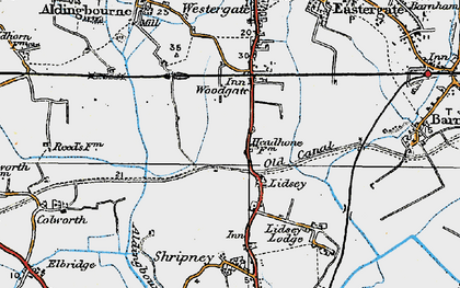 Old map of Lidsey in 1920
