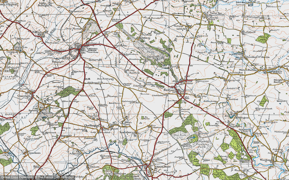 Old Map of Lidstone, 1919 in 1919