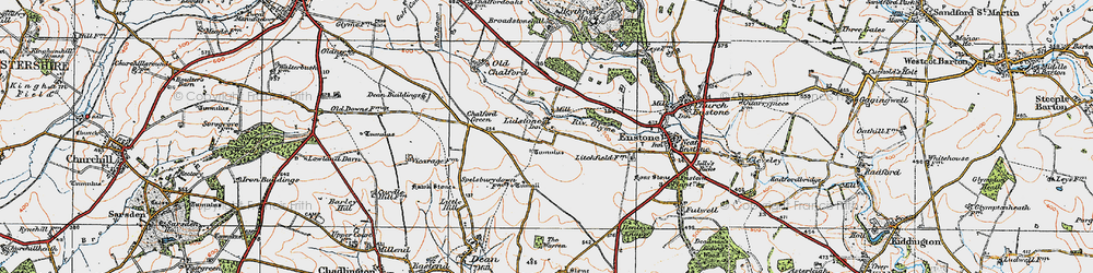 Old map of Lidstone in 1919