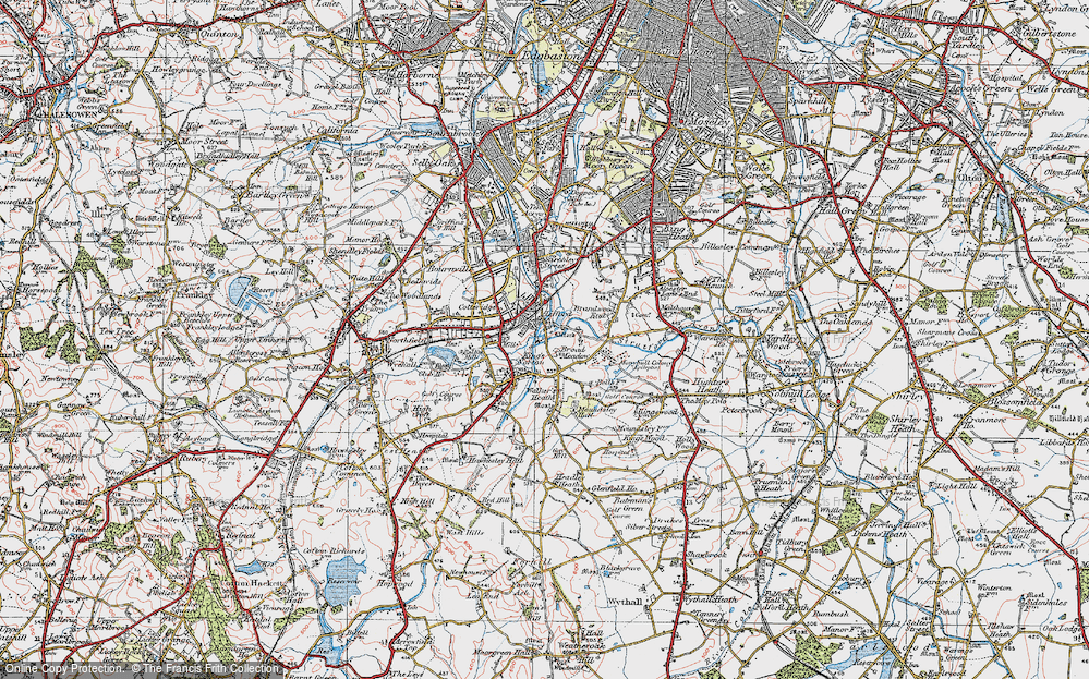 Old Map of Lifford, 1921 in 1921