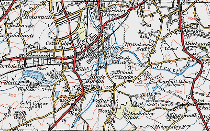 Old map of Lifford in 1921