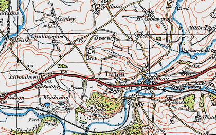 Old map of Lifton Park in 1919