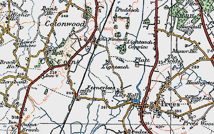 Old map of Lily Hall in 1921