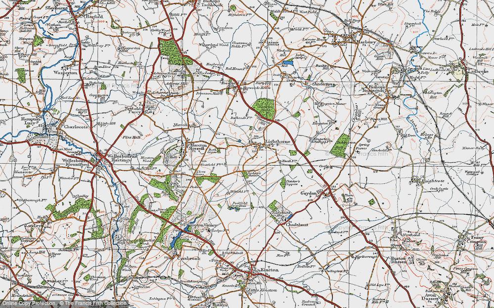 Old Map of Lighthorne, 1919 in 1919