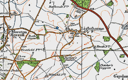 Old map of Lighthorne in 1919