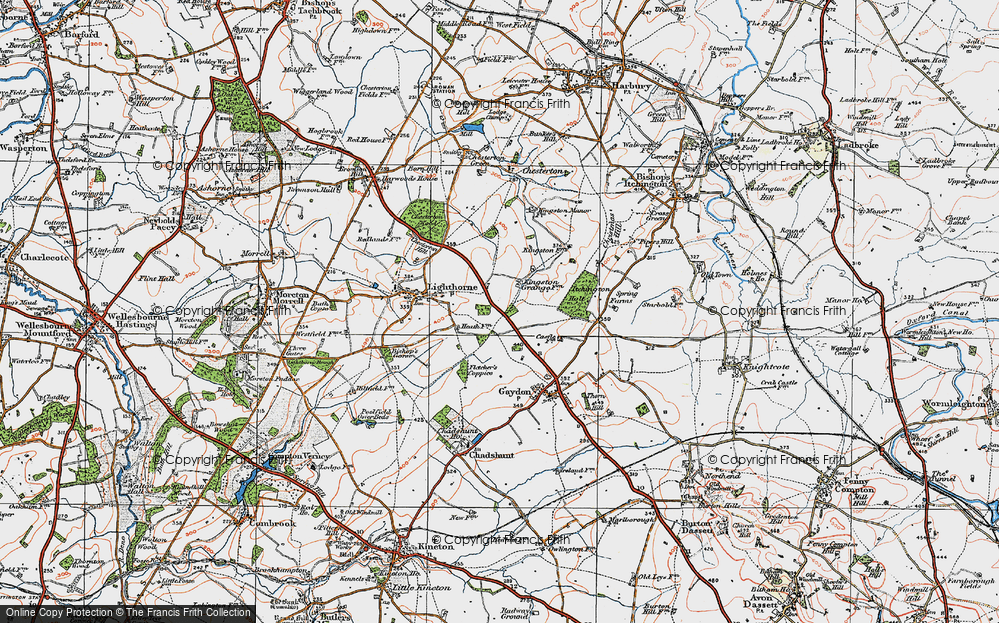 Old Map of Lighthorne Heath, 1919 in 1919