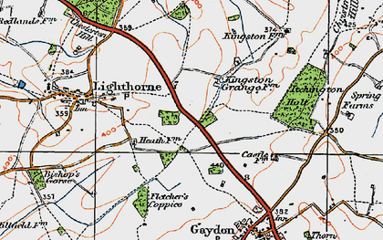 Old map of Lighthorne Heath in 1919