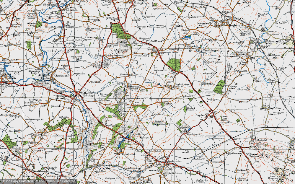 Old Map of Lighthorne Rough, 1919 in 1919