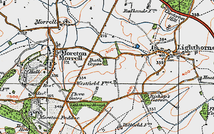 Old map of Lighthorne Rough in 1919