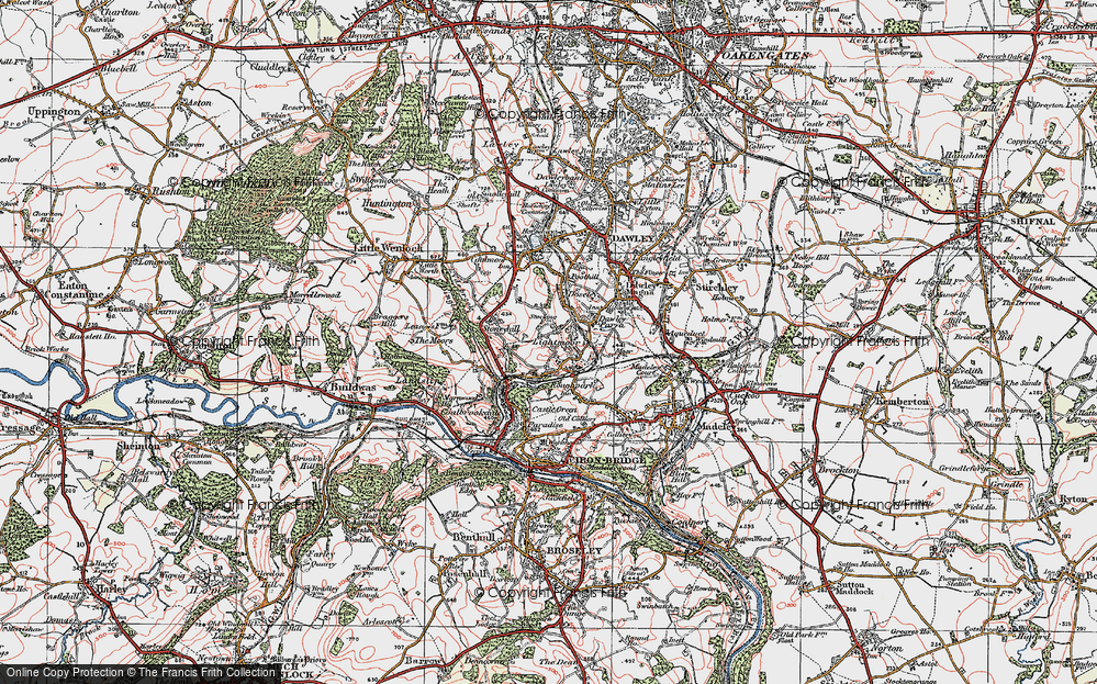 Old Map of Lightmoor, 1921 in 1921