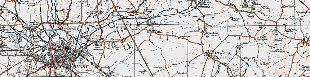 Old map of Lilbourne in 1920