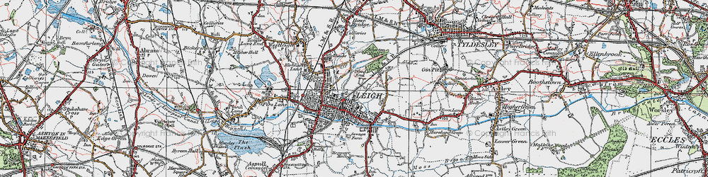 Old map of Lilford Park in 1924