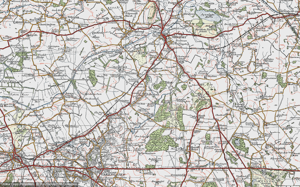 Old Map of Lilleshall, 1921 in 1921