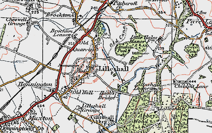 Old map of Lilleshall in 1921