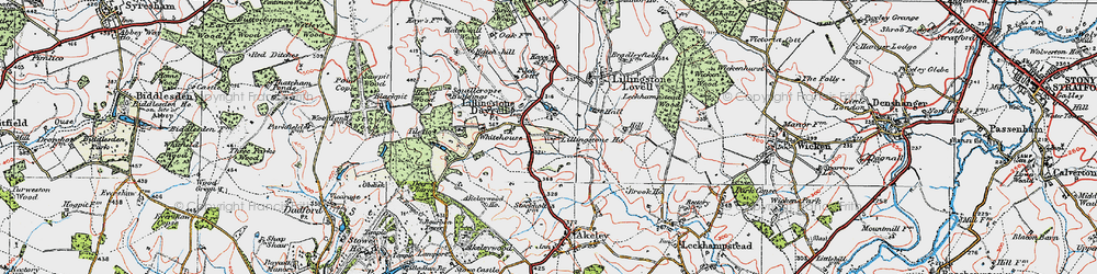 Old map of Tilehouse Wood in 1919