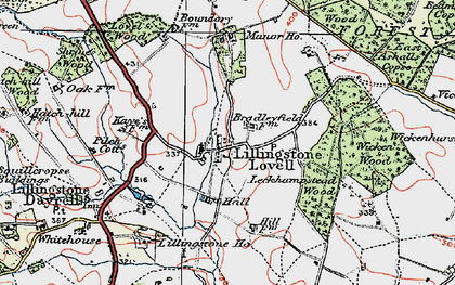 Old map of Leckhampstead Wood in 1919