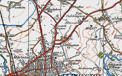 Old map of Lillington in 1919