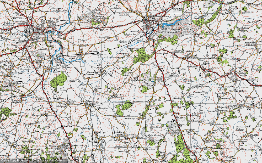 Old Map of Lillington, 1919 in 1919