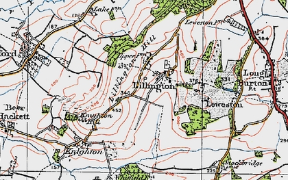 Old map of Lillington Hill in 1919