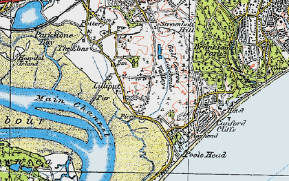 Old map of Lilliput in 1919