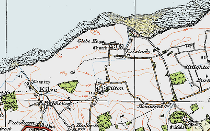 Old map of Lilstock in 1919