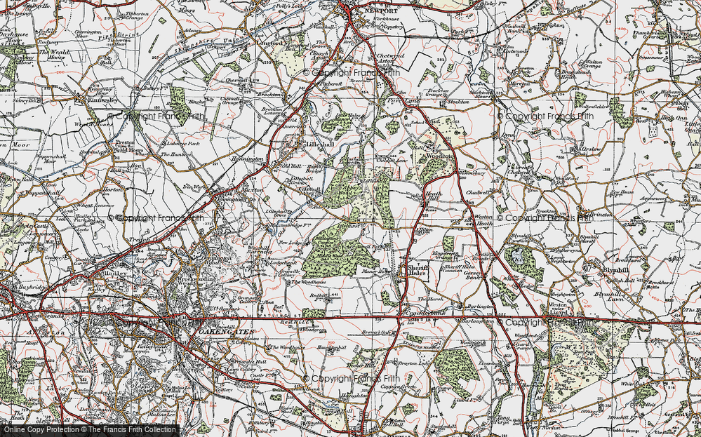 Old Map of Historic Map covering Abbey Wood in 1921
