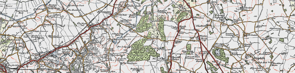 Old map of Abbey Wood in 1921
