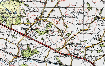 Old map of Lilyvale in 1921